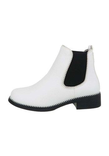 D5 Avenue Damen Chelsea Boots - white