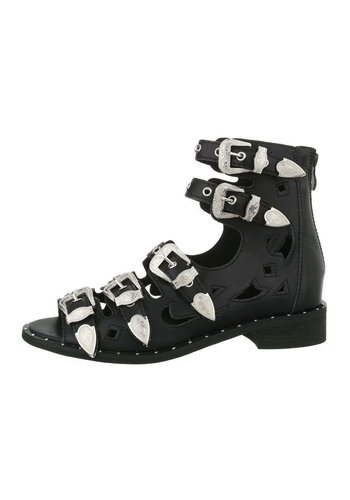 D5 Avenue Damen Stiefeletten Sandalen - schwarz