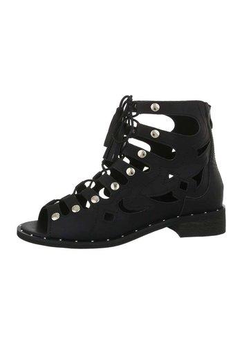 D5 Avenue Damenstiefeletten Sandale - schwarz