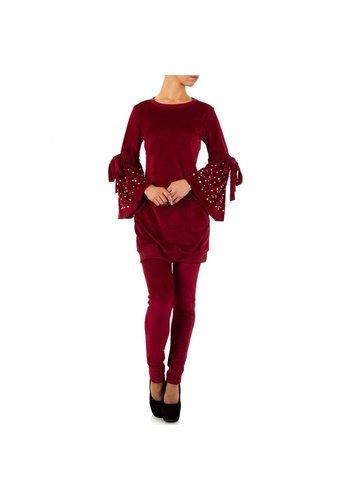 D5 Avenue Damen Anzug - weinrot