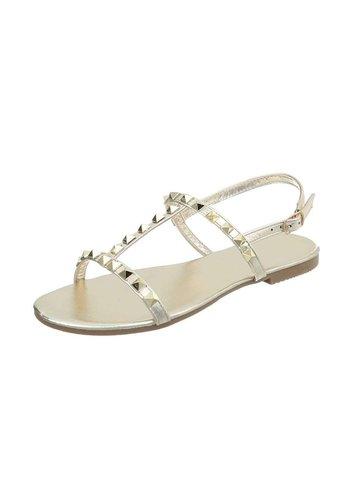 D5 Avenue Flache Sandalen für Damen - Gold