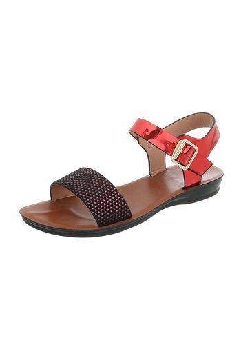 D5 Avenue Flache Sandalen für Damen - rot