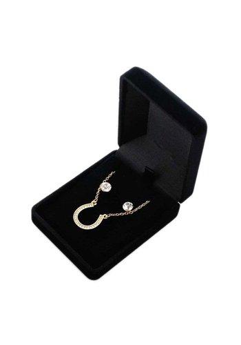D5 Avenue Damenhalskette mit Ohrringen in Goldfarbe
