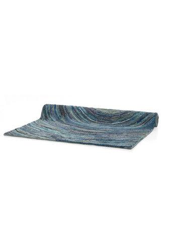 D5 Avenue Teppich - blau - Ringe - 160x230 cm
