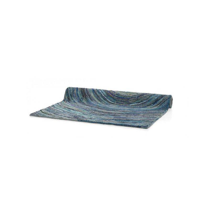 Teppich - blau - Ringe - 160x230 cm