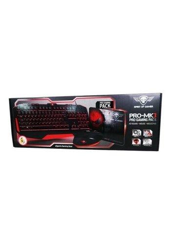 Spirit of Gamer Packen Sie die PRO-MK3 Gaming-Tastatur, Maus und Mauspad