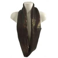Schal - Kupfer - gewebt