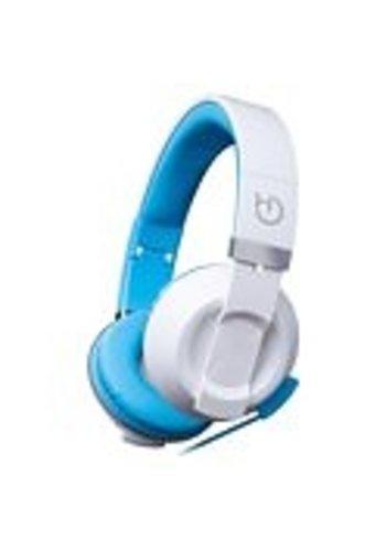 HIDITEC COOL KIDS Kopfbügel, binaural, kabelgebunden, blau, weißes mobiles Headset