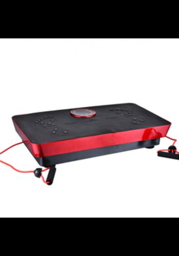 Fitness Pro Fitness Body Magnetfeldtherapie Vibrationsplatte + Musik 73cm (Schwarz-Rot)
