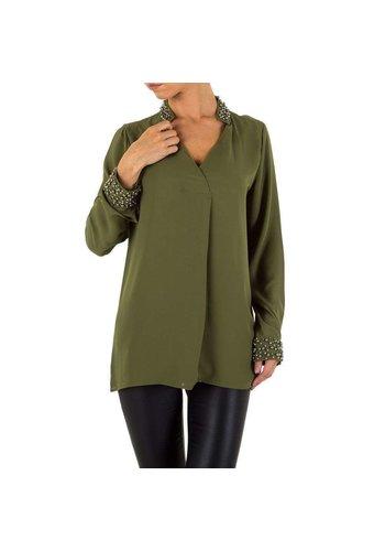 D5 Avenue Damen Bluse von Emmash - armygreen