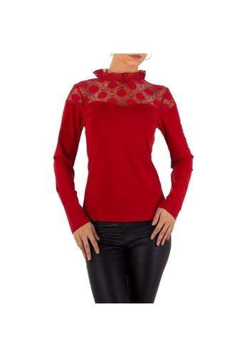 D5 Avenue Damen Bluse von Emmash - weinrot
