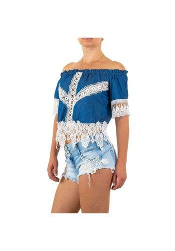 D5 Avenue Damen Bluse von Realty Jeans - blau