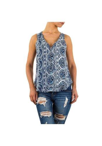 D5 Avenue Damen Bluse von Apricot - blau