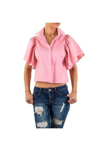 D5 Avenue Damen Bluse von Shk Mode - Rose