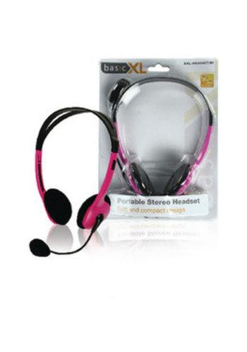 basicXL Headset On-Ear Pink 2x 3,5 mm Eingebautes Mikrofon 2,0 m