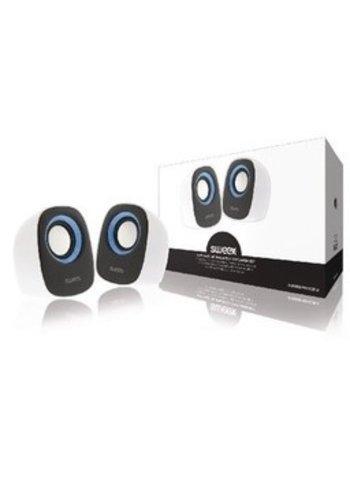 Sweex Lautsprecher 2.0 verkabelt 4 W Weiß / Blau