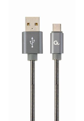 CableXpert USB Type-C-Kabel mit Metallanschlüssen, 2 m, schwarz