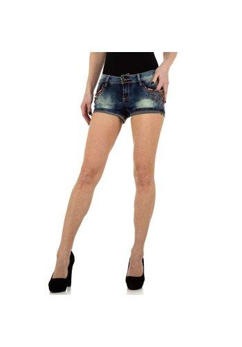 MOZZAAR Damen Shorts von Mozzaar - blau