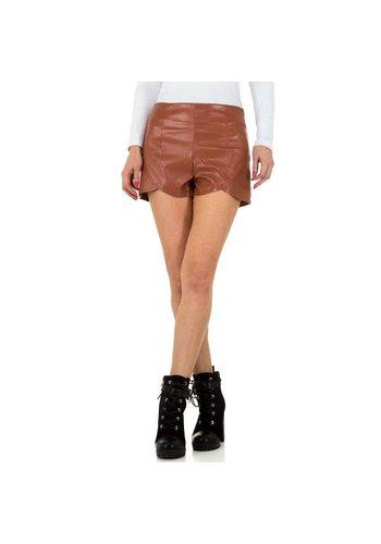 JCL Damen Shorts von JCL - braun