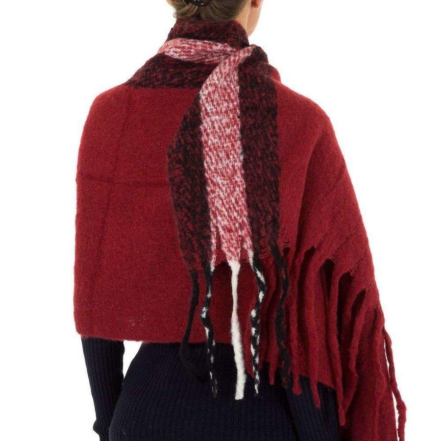 Damen Schal von Holala Gr. One Size - bordeaux