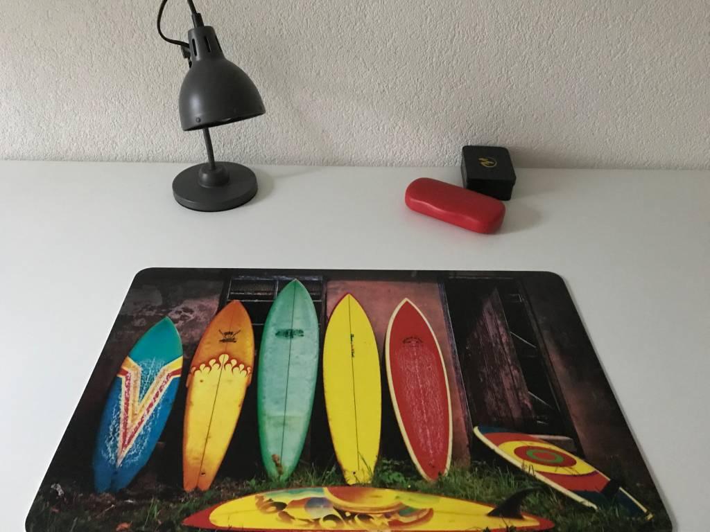 Bureau onderlegger Surfen in kleur