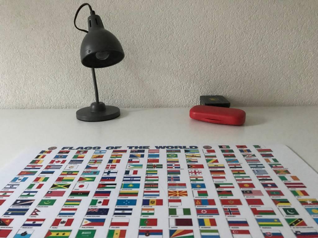 Bureau onderlegger vlaggen van de wereld