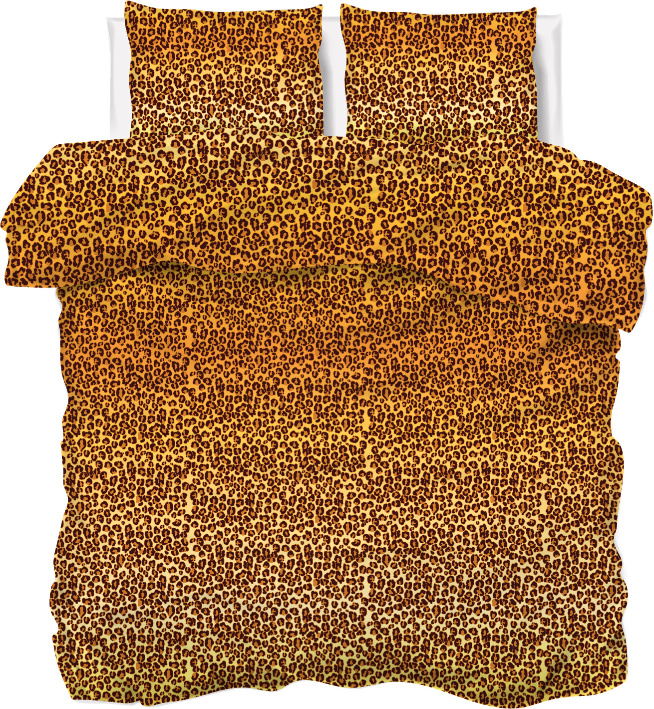 Een dekbedovertrek met panter print