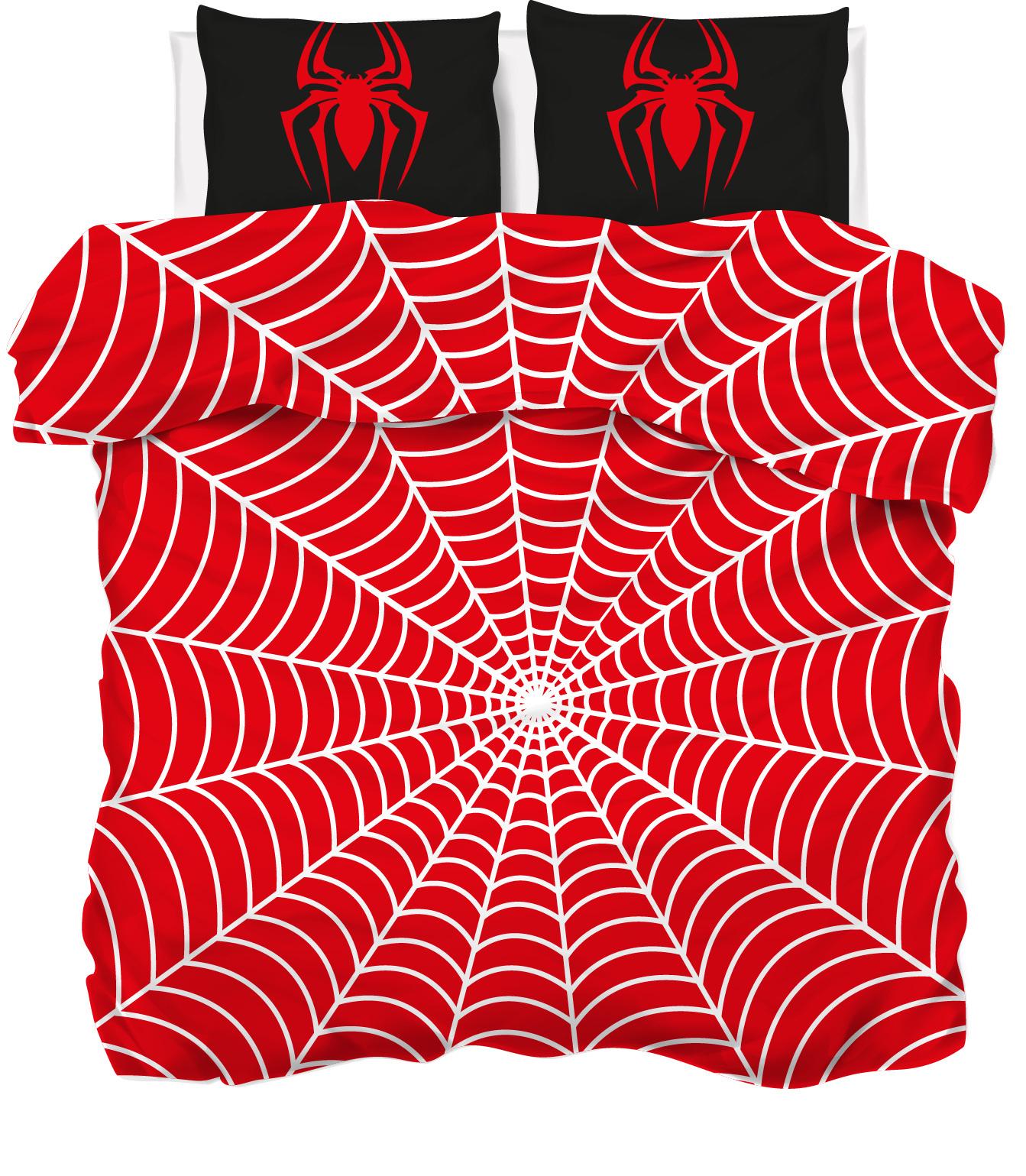 Een dekbedovertrek spider
