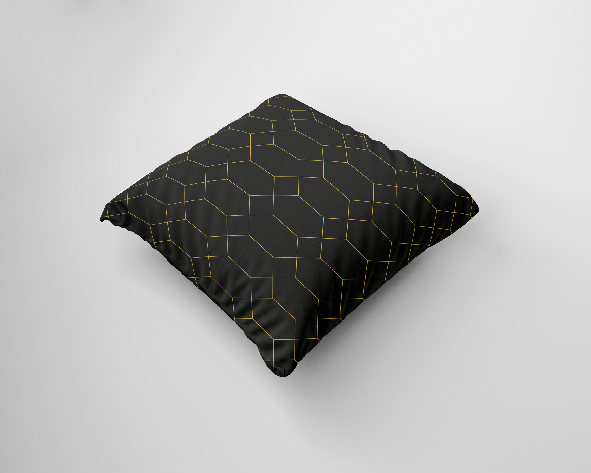 Kussen met goud patroon op zwart