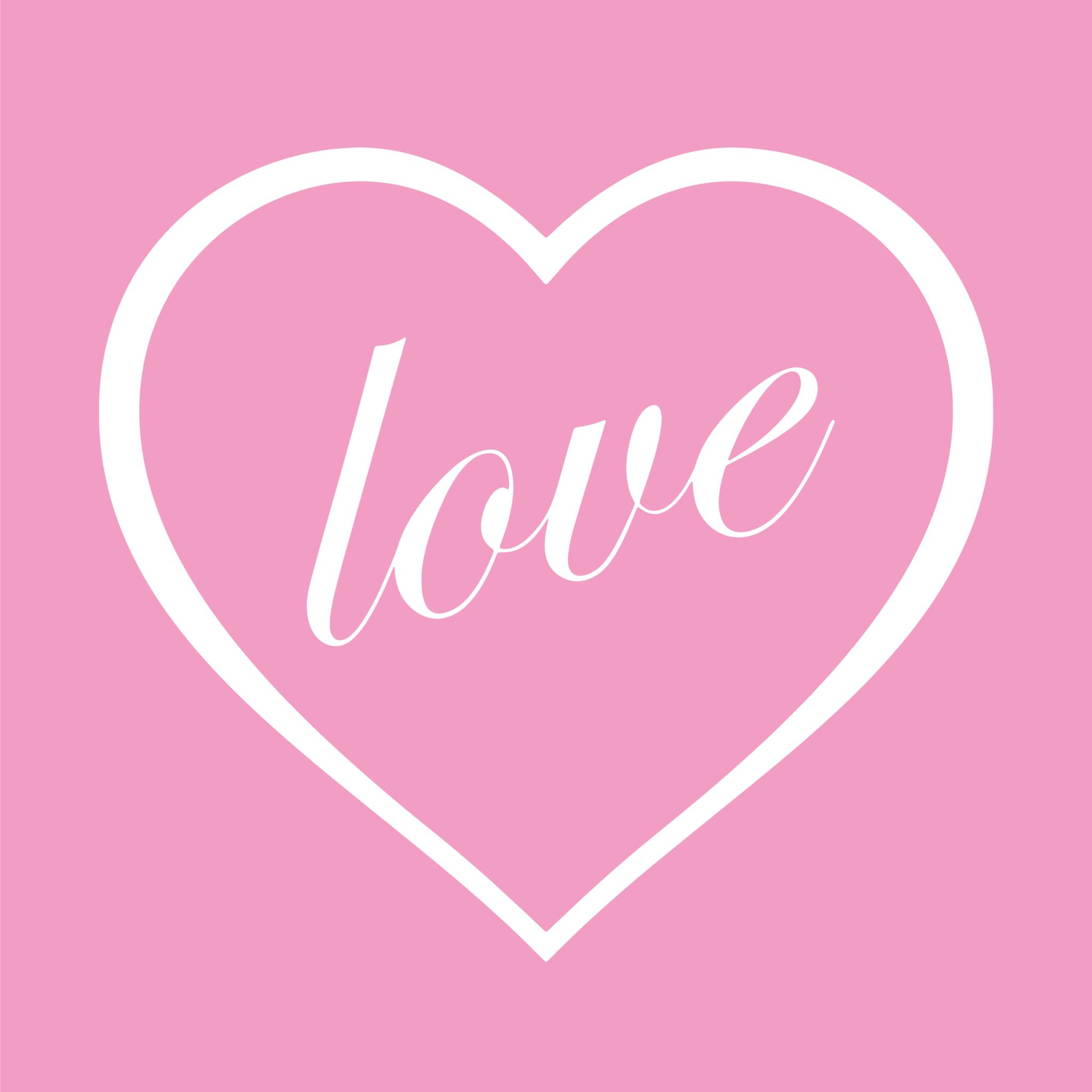 Kussen met hart en love