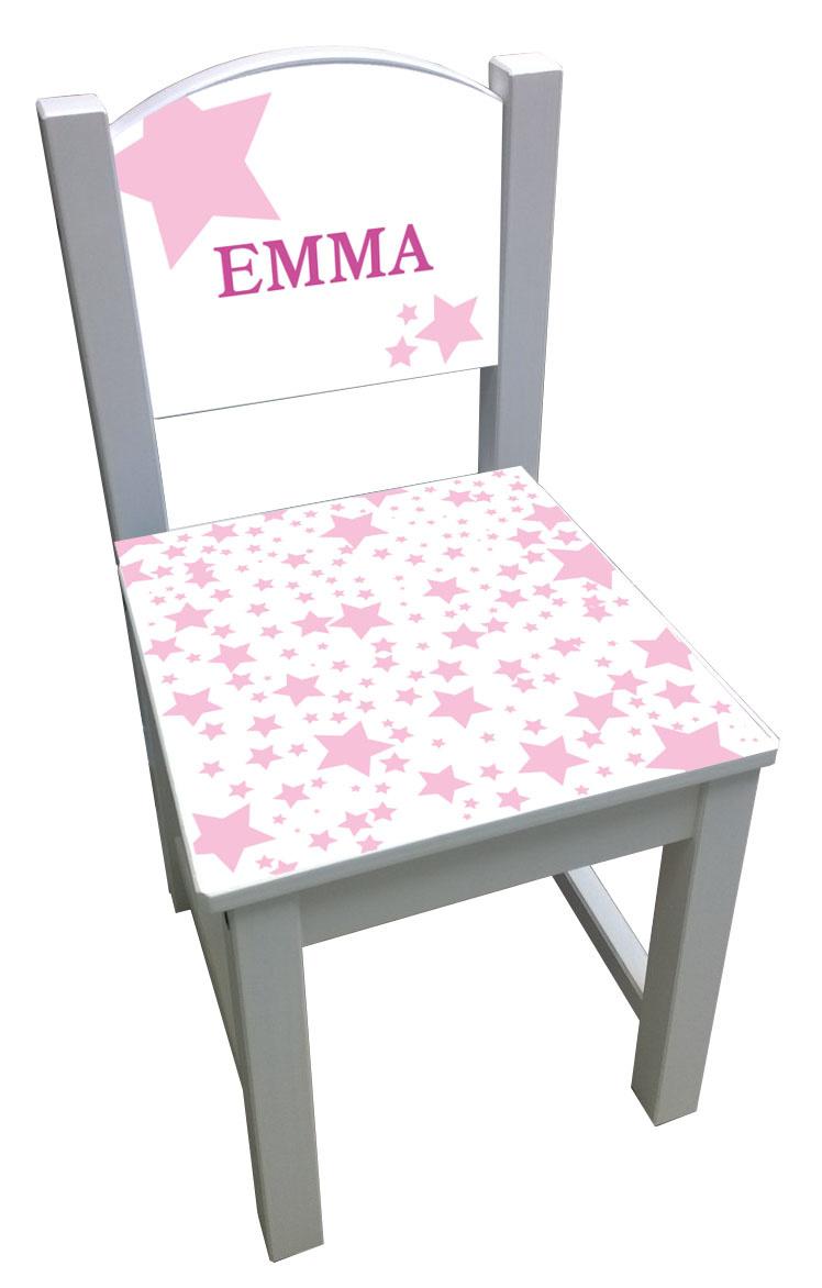 Kinderstoel met roze sterren
