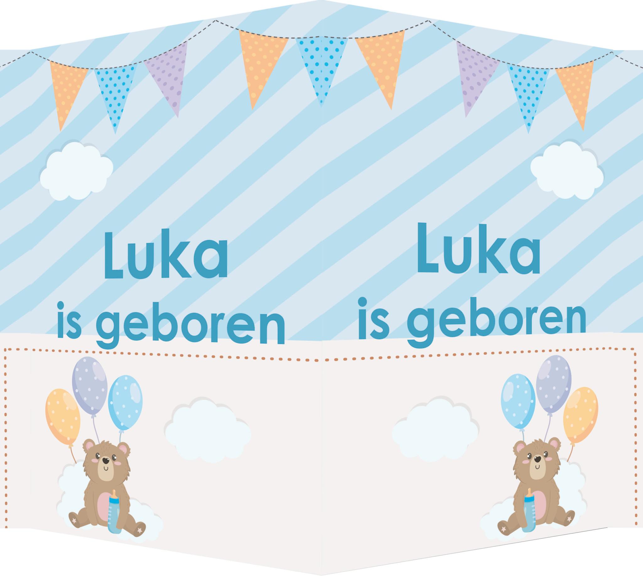 Geboorte raambord Luka