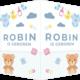 Geboorte raambord Robin