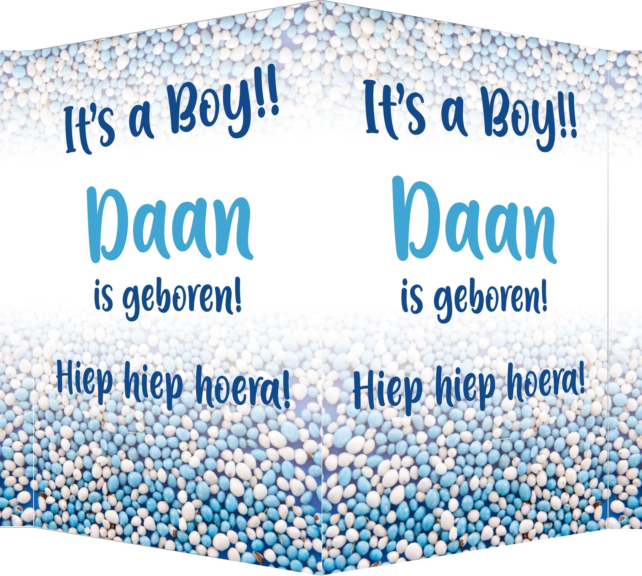 Geboorte raambord Daan