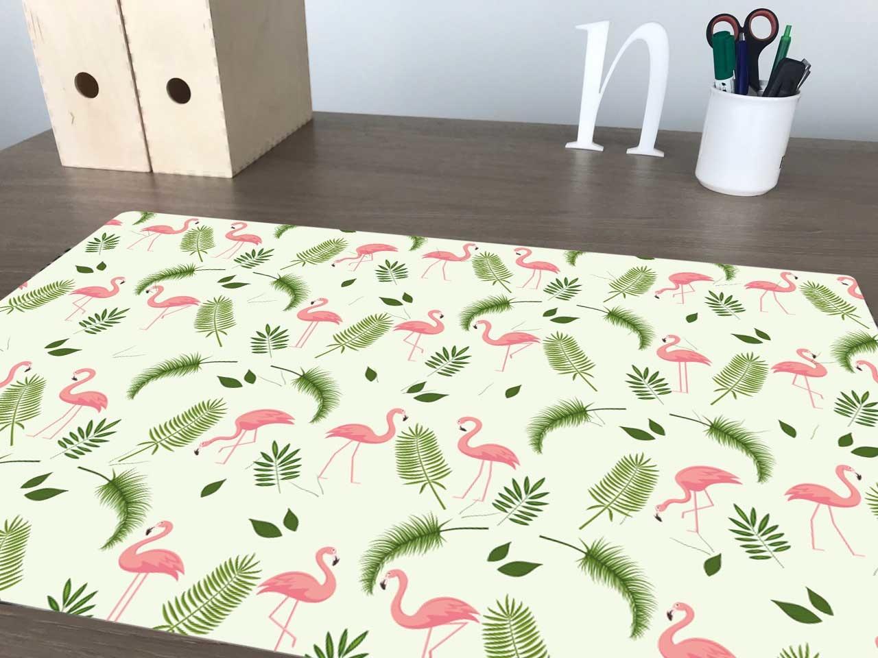 Bureau onderlegger met flamingo patroon