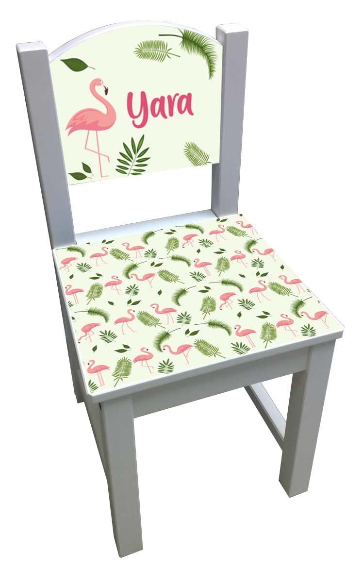 Kinderstoel met flamingo patroon