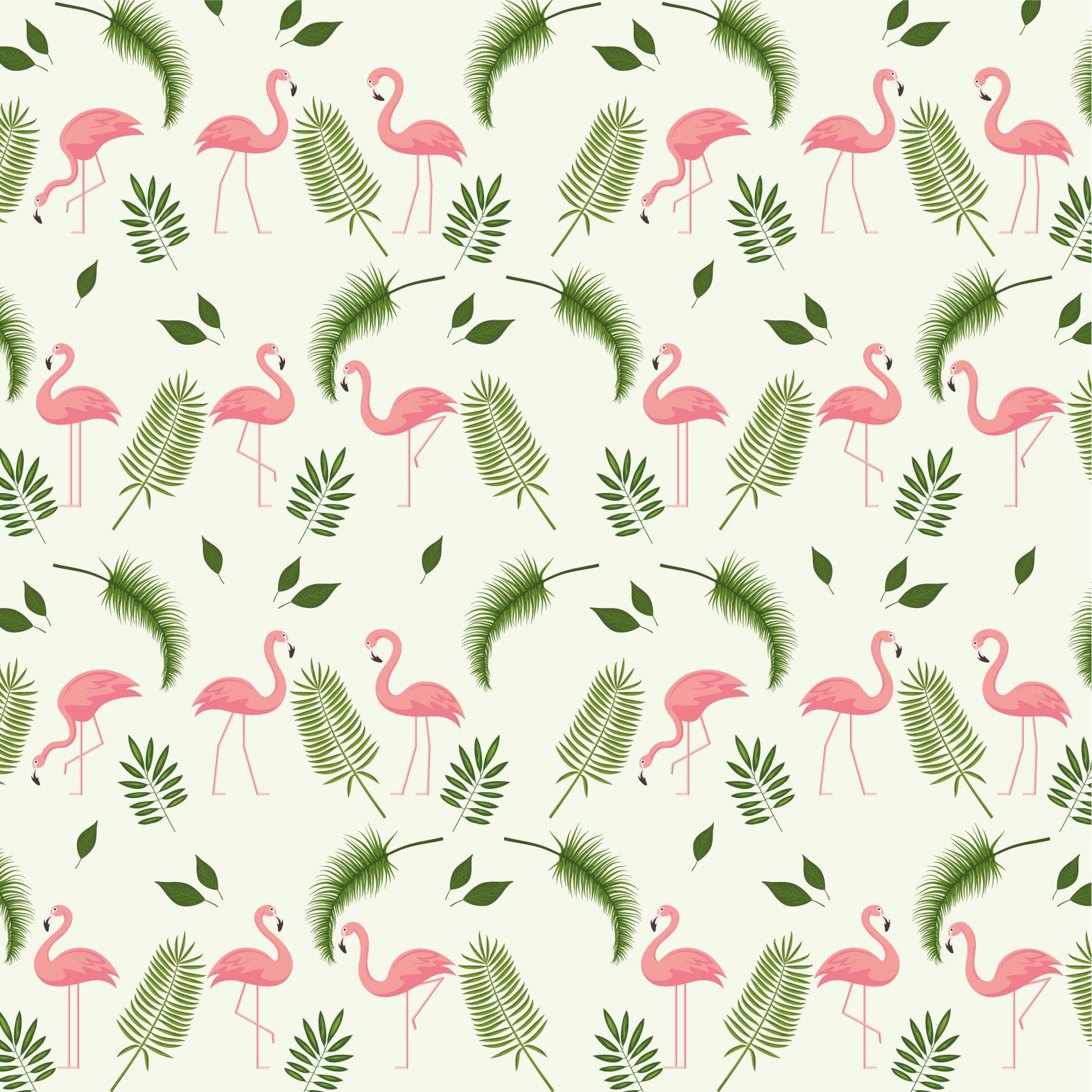 Een dekbedovertrek met flamingo patroon