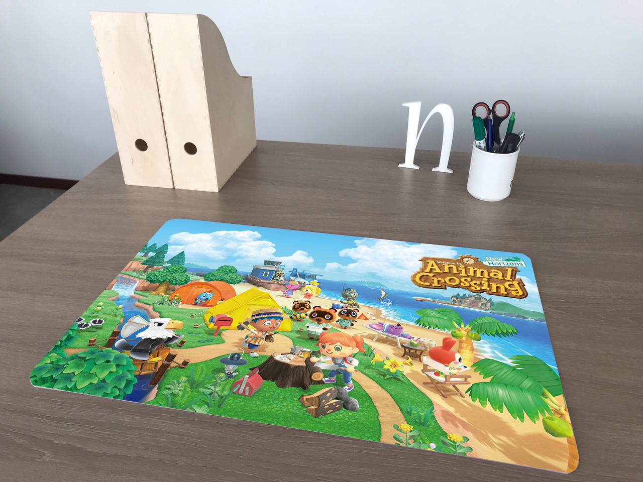 Bureau onderlegger een Animal Crossing afbeelding
