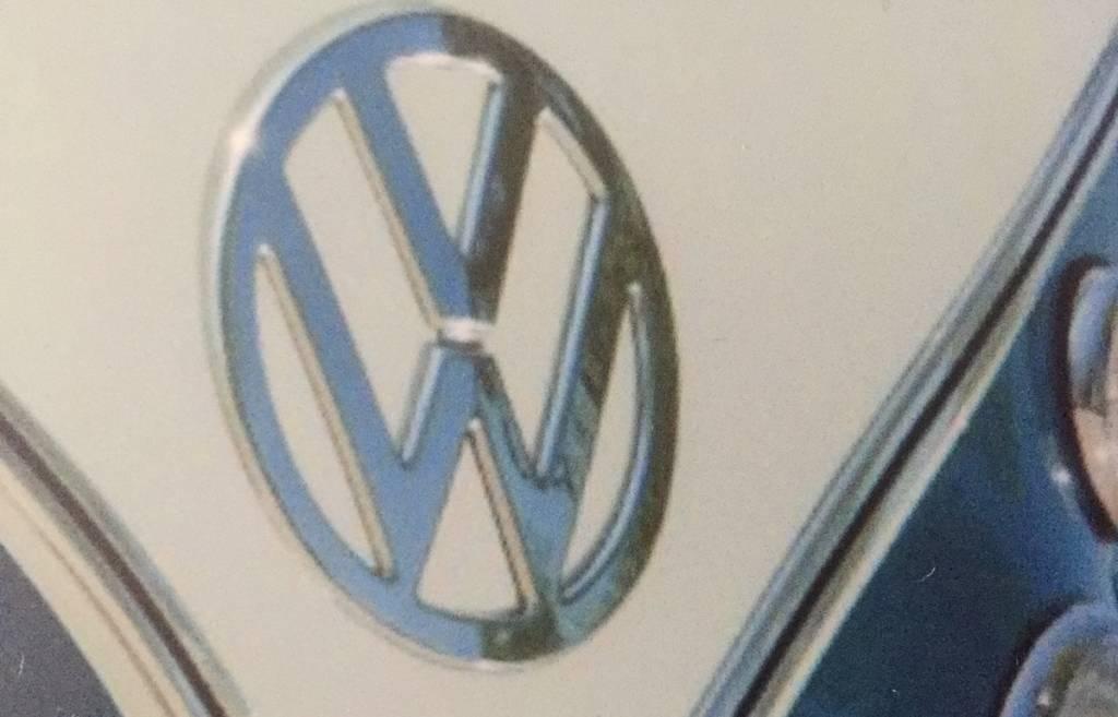 Bureau onderlegger RETRO VW bus blauw
