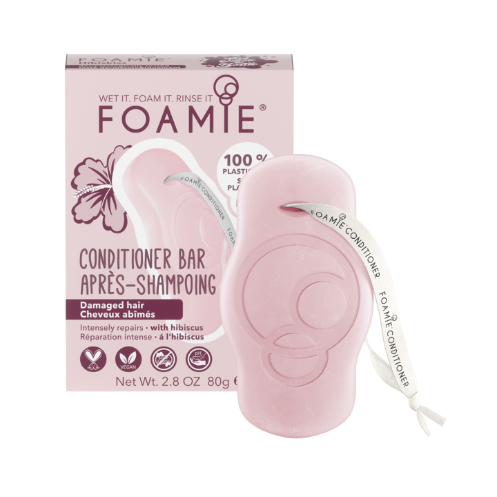 FOAMIE Conditioner Bar - Hibiskiss - For Damaged Hair (Pack of 6)