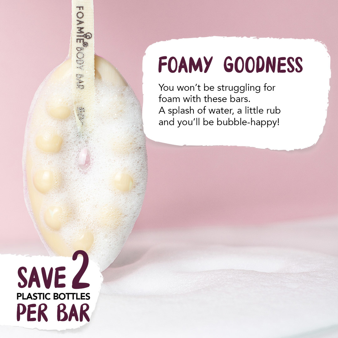 FOAMIE Papaya & Oat Milk 2in1 Body Bar (6 Pack)