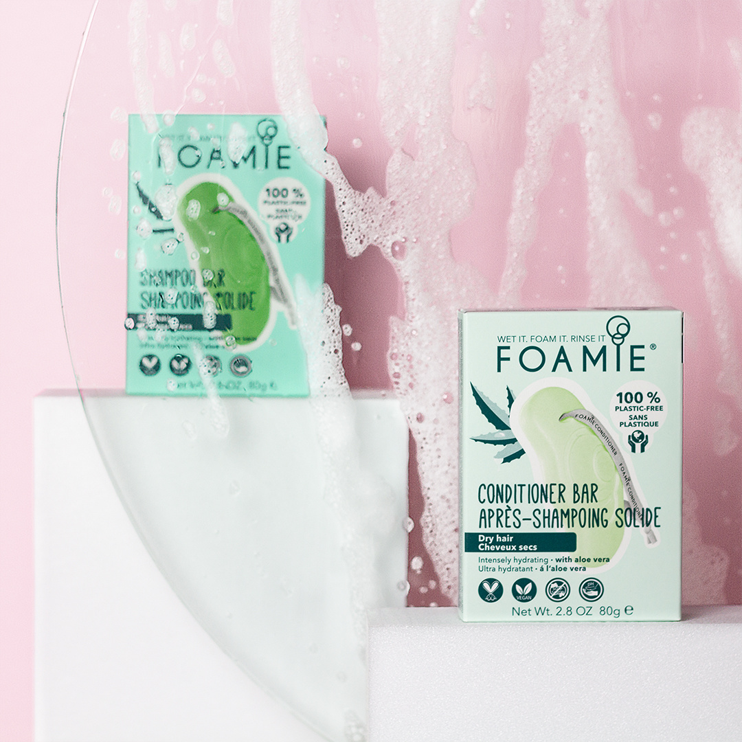FOAMIE Conditioner Bar - Aloe You Vera Much - For Dry Hair (Pack of 6)