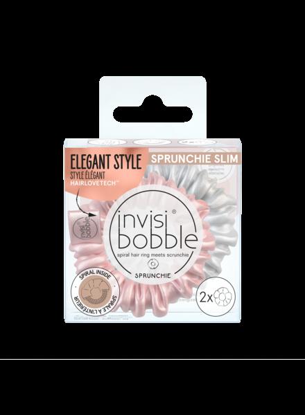 invisibobble® SPRUNCHIE SLIM Bella Chrome 6-box