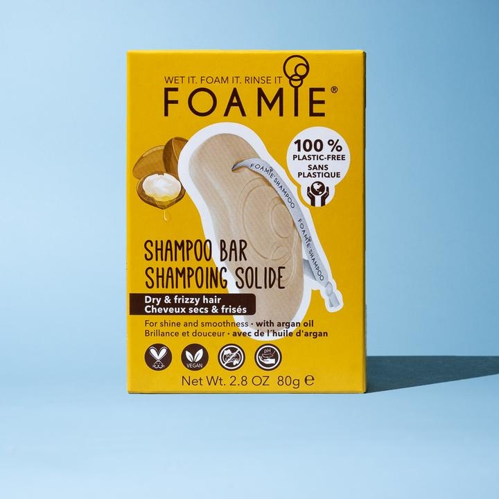 FOAMIE ARGAN OIL SHAMPOO BAR FOR DRY & FRIZZY HAIR (Pack of 6)
