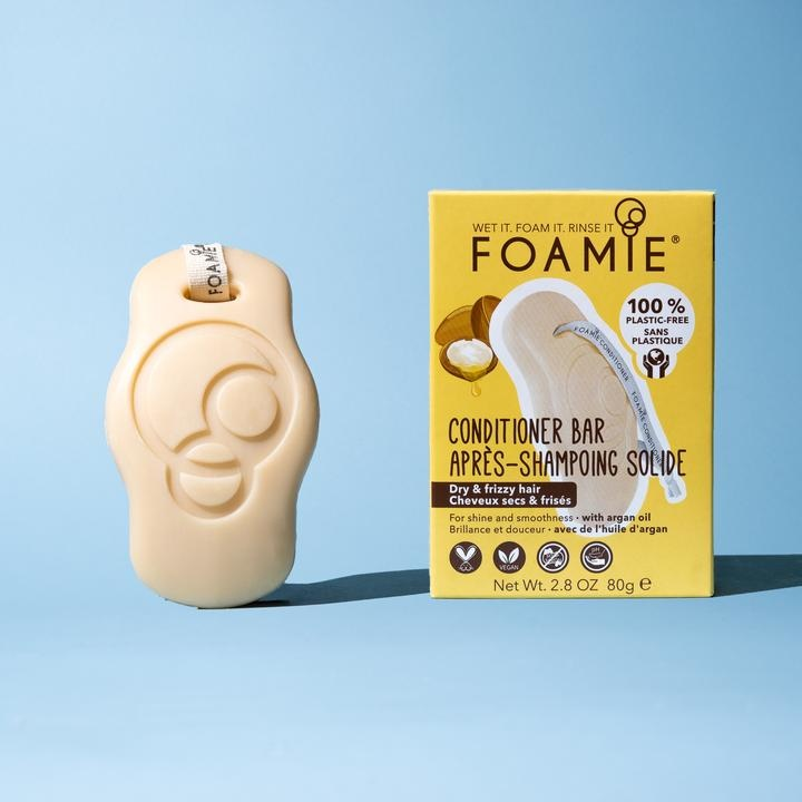 FOAMIE ARGAN OIL CONDITIONER BAR FOR DRY & FRIZZY HAIR (Pack of 6)