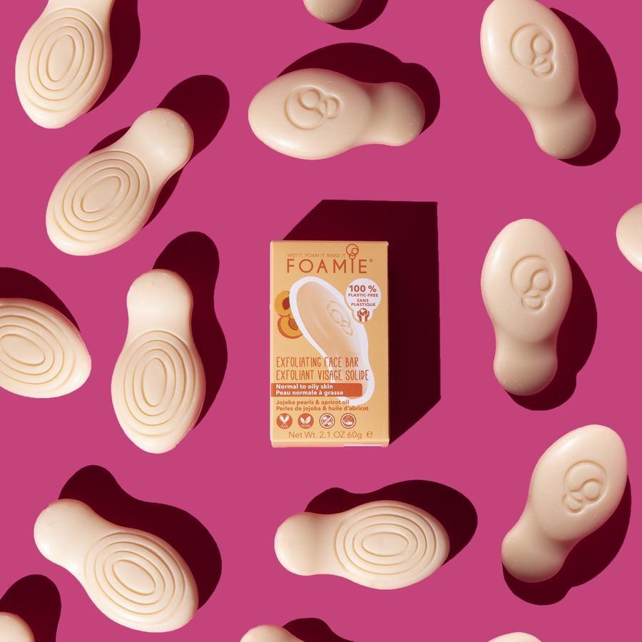 FOAMIE Face Bar - Exfoliating Apricot & Jojoba Pearls  (6 Pack)