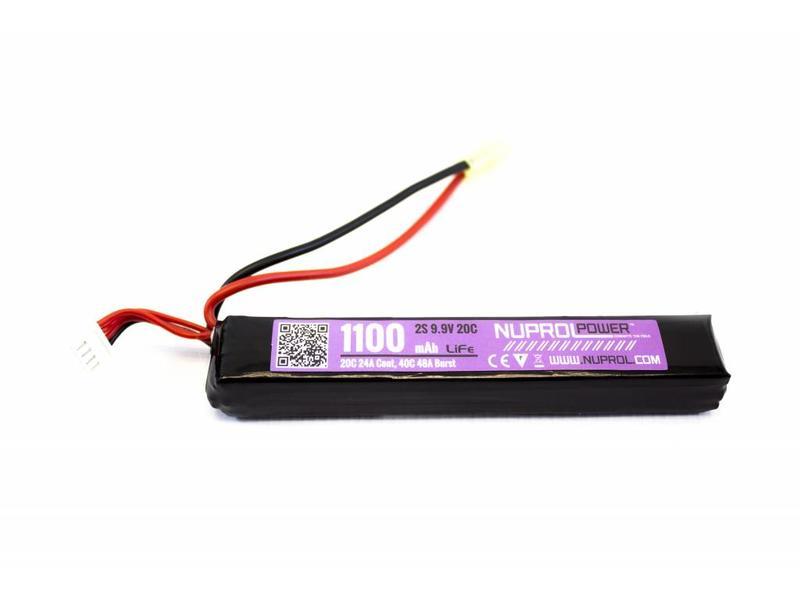 Nuprol Power 1100MAH 9.9V 20C LI-FE Slim Stick Type