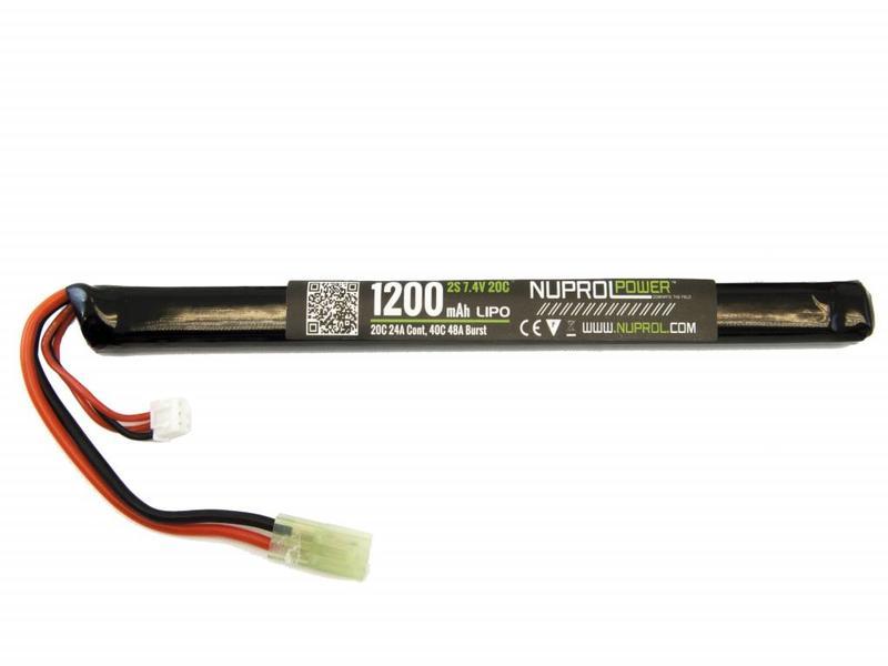 Nuprol Power 1200MAH 7.4V 20C Lipo Slim Stick type