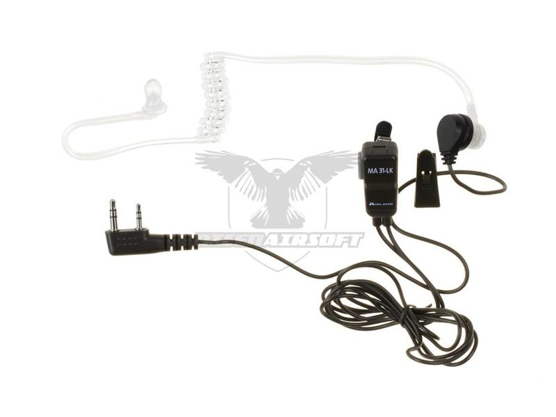 Midland MA 31 LK Security Headset Kenwood Connector