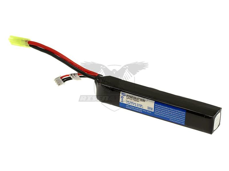 Pirate Arms LiPo 7.4V 2600mAh 20C Large Type